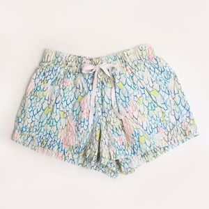 Madewell Multi Color Fish Scales Drawstring Shorts